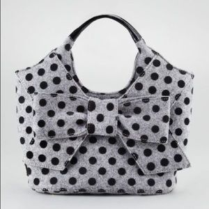 Kate Spade Tate Walker Park Polka Dot Wool Tote